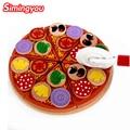 Simingyou Развивающие Игрушки Letinous Edodes Пицца Увидеть Детей Кухня 3D Головоломки Игрушки Для Детей WRB93