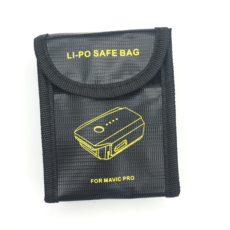 1pcs DJI Mavic PRO Lipo Battery Explosion-proof Safe Bag Mavic Pro Battery Fireproof Case Fiber Storage Box Protector