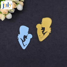 Julyarts Metal Mum and Baby Cutting Dies Scrapbooking Carbon Steel Material Craft Creative Stamps Paper