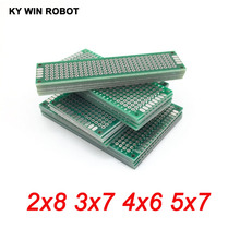 20 шт 5x7 4x6 3x7 2x8 см Pcb двухсторонний медный прототип; универсальный PCB плата для Arduino