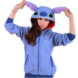 Stitch women hoodies with ears hooded hoody polar fleece winter coat stitch anime cosplay sweatshirts.jpg 250x250