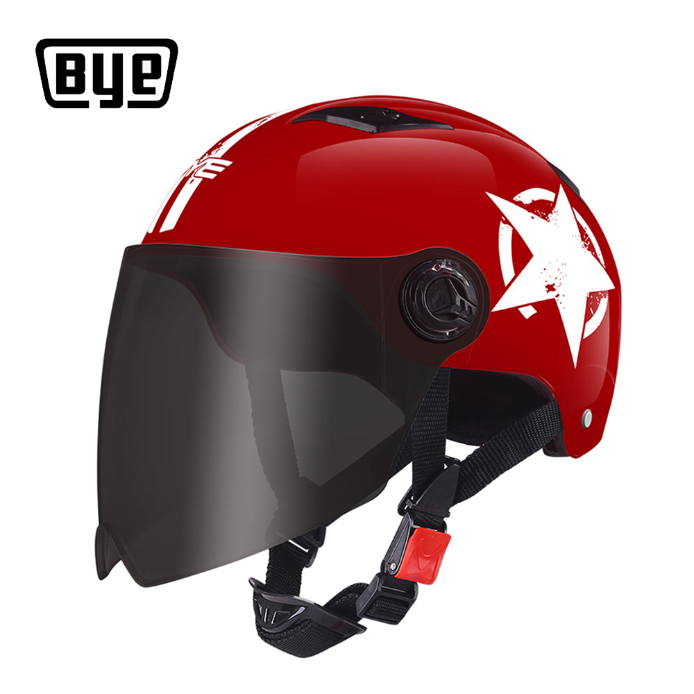BYE Motorcycle Helmet Full Face Unisex For Scooter Capacete Crash Helmet Motocross Riding Biker Motorbike Moto Helmet