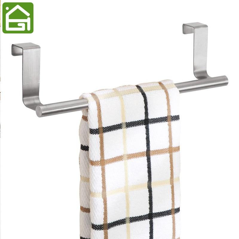 Stainless Steel Kitchen Cupboard Hanger Cabinet Door Towel