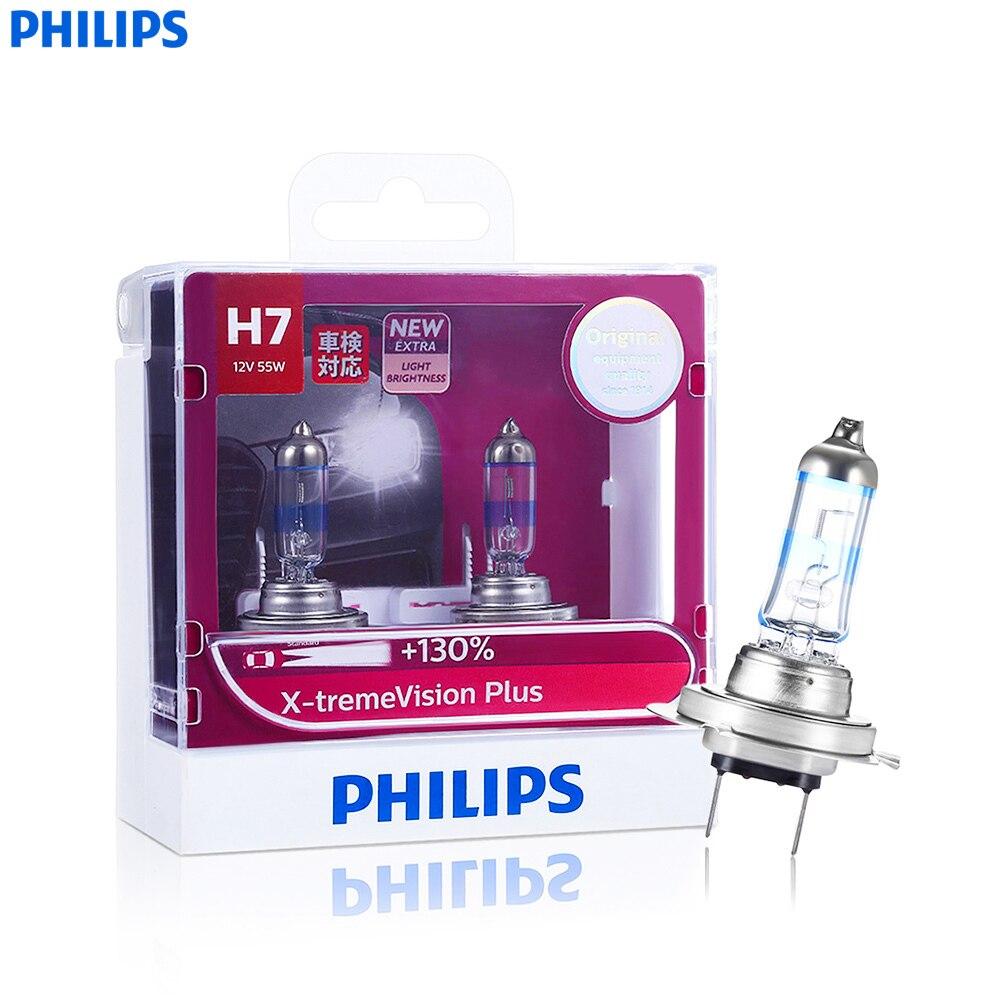 Philips X-tremevision Além de Halogênio Carro Luz Iluminar Up130 % Pares De H1 H4 H7 55 W 1100LM 4300 K Estender 45 M Feixe de Luz farol