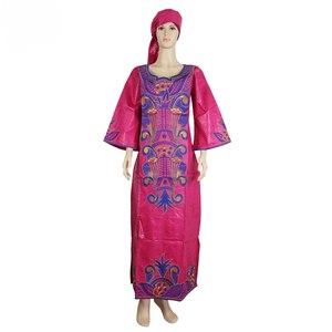 Image 1 - MD 南アフリカ女性服、伝統的なアフリカのドレスバザンリッシュ headwrap アフリカプラスサイズアフリカのプリントドレス