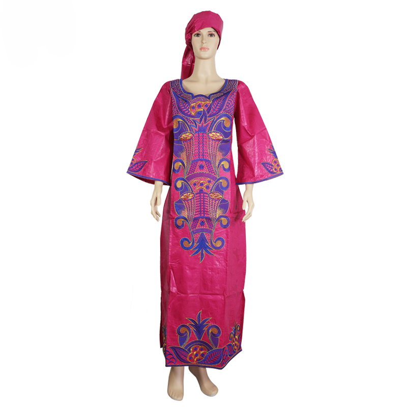 MD South Africa Ladies Clothes Traditional African Dresses For Women Bazin Riche Headwrap African Plus Size African Print Dress