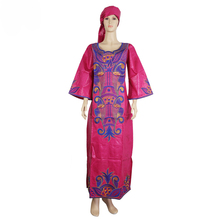 MD south africa ladies clothes traditional african dresses for women bazin riche headwrap plus size print dress