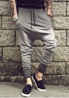 mens joggers Casual sports trousers harem pants men black fashion swag dance drop crotch hip hop