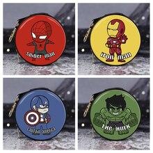 6style avengers Iron man action figure toys avengers Endgame spider man Thanos Hulk wallet Captain American kids toys cable bite цена и фото