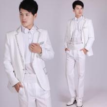 Blazer men formal dress latest coat pant designs suit men costume homme terno masculino white marriage wedding suits for men's