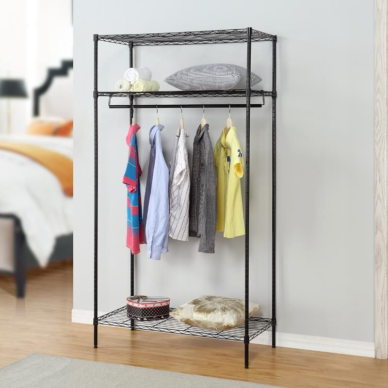 Metal Folding Cloth Wardrobe Simple Closet Thick Reinforced Steel Mobile  Cabinet In Wardrobes From Furniture On Aliexpress.com | Alibaba Group