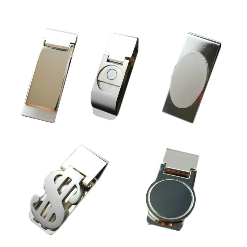 High Quality Stainless Steel /Silver Novel New Slim Pocket Cash ID Credit Card  Dollar Holder Small Mini Magic Money Clip !