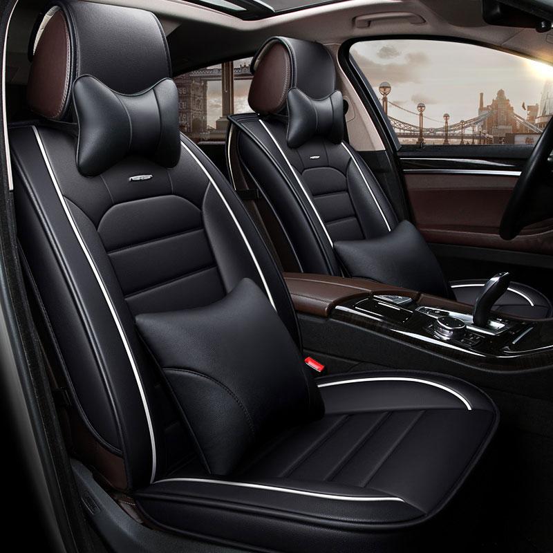 Роскошные кожаные сиденья чехлы универсальные автомобили подушки автомобиль Стайлинг для Volkswagen VW MK5 6 Mk6 Passat B3 B5 B5.5 b6 b7 b8