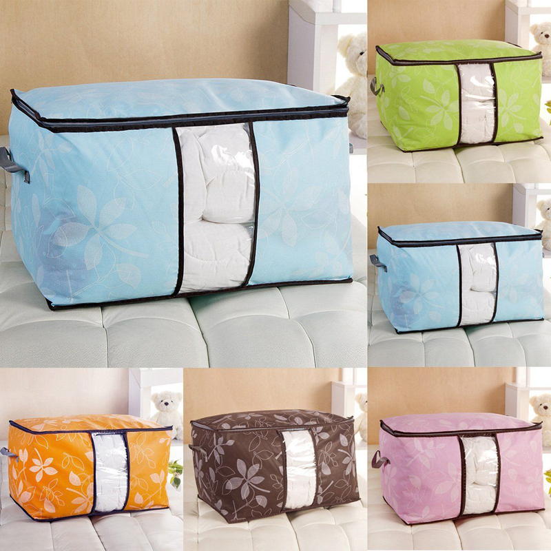 Bamboo Charcoal Quilts Blankets Pillows Sweater Storage Bag Quilt Organizer  Bag Box For Home Room Tools