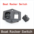 new Hot 15A 250V Power switch AC power outlet with red triple Rocker Switch tripod feet of copper