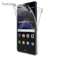 For Huawei P8 Lite 2017 Case Honor 8 Lite Case 360 Degree Full Cover Soft Clear Case Transparent Silicone Cover for P9 Lite 2017(China)