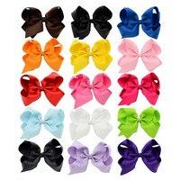 15pcs Lot 15cm Large Bowknots Kids Girl Hair Pin Grosgrain Ribbon Bow Clips DIY Headdress Children