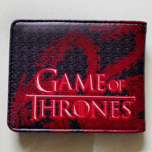 2018 HBO Game of Thrones House Targarye Blood and fire wallets Purse Red Leather w342