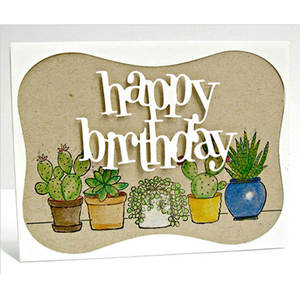 words happy birthday metal cutting dies decorative cutting