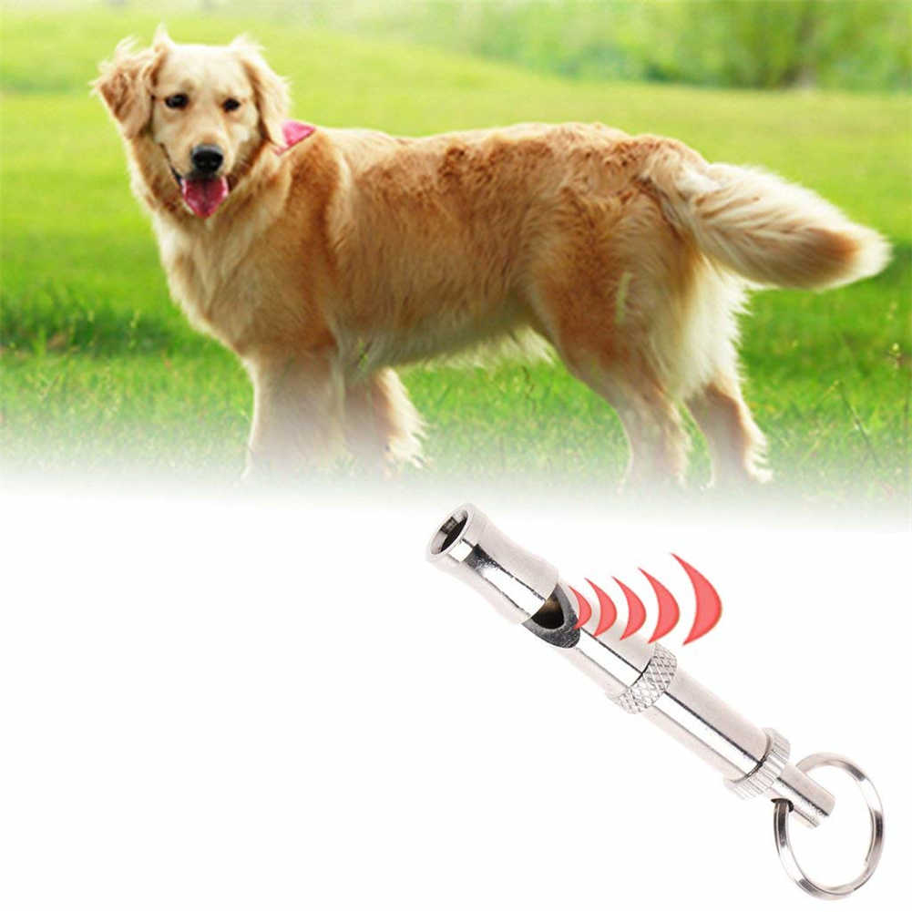 Puppy Pet Dog Whistle Two-tone Ultrasonic Flute Stop Barking Sound Repeller Dog Training Whistle Pet Dog Whistle Keychain