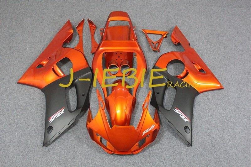 Orange black Injection Fairing Body Work Frame Kit for Yamaha YZF 600 R6 1998 1999 2000 2001 2002