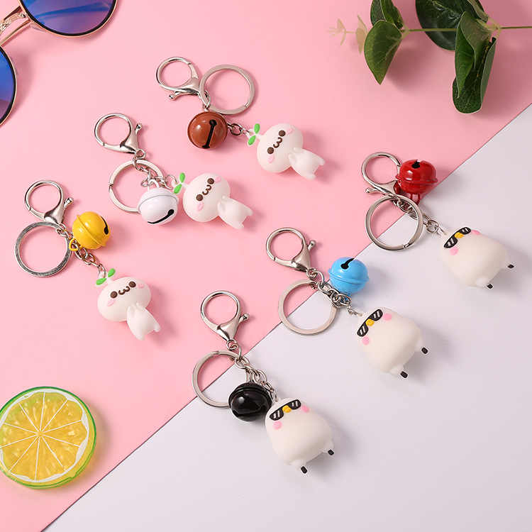 Creative Cute Face Shaped Keychain Funny Doll Figures Car Keychain Cute Expression Key Chain Fashion Jewelry Friendship Gifts