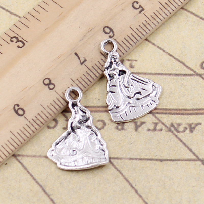 10pcs Charms Southern Bell Lady Dancer 21x15mm Tibetan Silver Plated Pendants Antique Findings Jewelry Making Diy Handmade Craft Agreeable To Taste Home & Garden