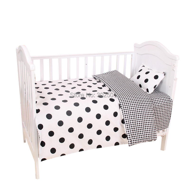 Image 5 - 3Pcs Baby Bedding Set Cartoon Cotton Baby Crib Sets Baby Cot Set Including Pillowcase Flat Sheet  Duvet Cover Without Filling-in Bedding Sets from Mother & Kids