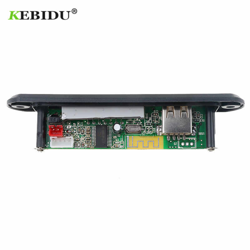 KEBIDU MP3 Decoder Bluetooth Senza Fili di Bluetooth 12V MP3 WMA Scheda di Decodifica Audio Modulo USB TF Radio Per Auto A Distanza altoparlante di musica