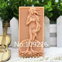 New Product!!1pcs Lovely Girl (zx292) Food Grade Silicone Handmade Soap Mold Crafts DIY Mould