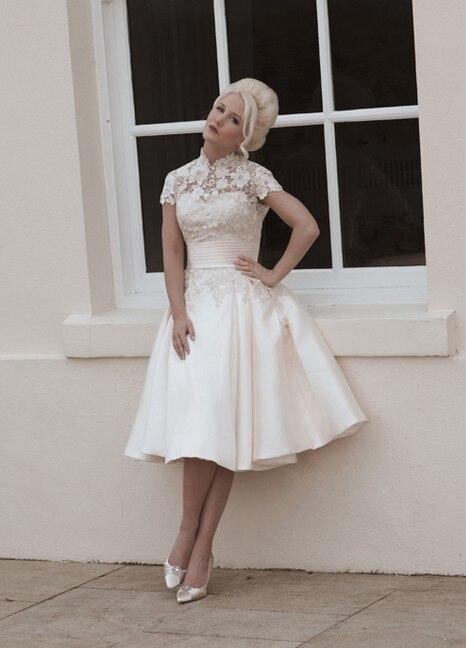 Popular Tea Length Wedding Dresses Vintage-Buy Cheap Tea Length ...