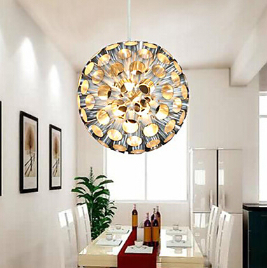 Modern Metal Pendant Lights With Ball Lamp Shades Living Room Decoration Light Fixtures 110v 220v