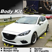 NOVOVISU For Mazda 3 For Mazda3 M3 Axela BK BL BM Bumper Lip / Front Spoiler Deflector For Car View Tuning / Body Kit / Strip