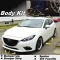 Para Mazda 3 Para Mazda3 M3 Axela BL BK BM Bumper Lip/Spoiler dianteiro Defletor Para a Opinião Do Carro Tuning/Body Kit/Tira Saia