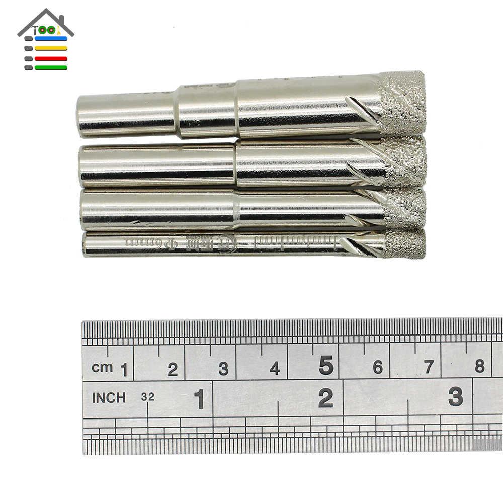 6 8 10 12 Mm Ubin Berlian Dilapisi Inti Kering Mata Bor Tahan Lama Pengeboran Batu untuk Kaca Marmer Granit Kuarsa keramik Porselen