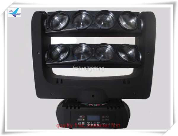 4pcs/lot 8 eyes flight case LED Stand Spider Beam Light Stage Beam Light 10w Spider moving head ...