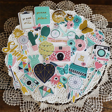 58+pcs Europe and America Style Paper Stickers Set Die Cut For DIY Scrapbooking Junk Journal Album Sticker Kits Card Making S077