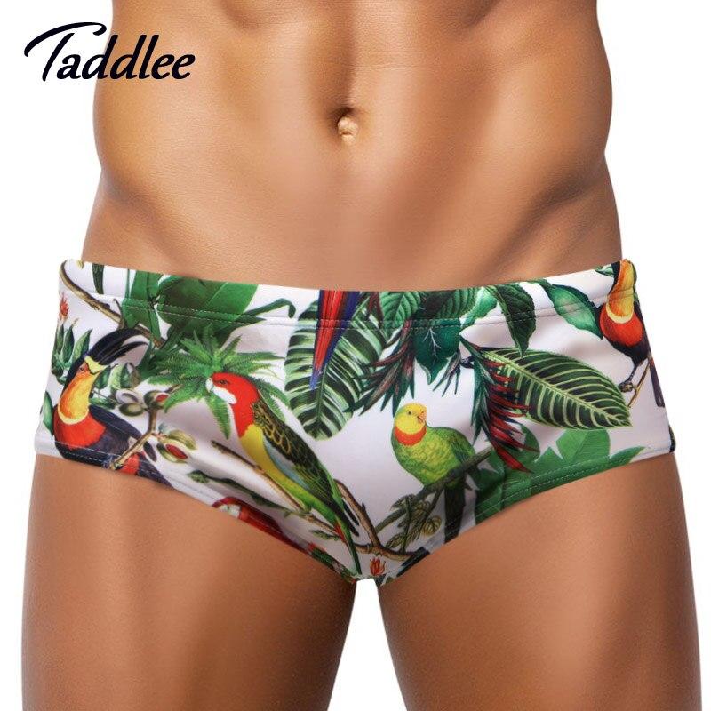 Taddlee Brand Sexy Mens Swimsuits Swimwear Swim Boxer Trunks Shorts Surf Board Men Swimming Briefs Gay New Brazilian Classi Cut