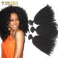 Бразильские странный вьющиеся волосы девственные 3 шт. бразильские волосы ткать пучки 6а необработанные человеческих волос ткать афро кудрявый вьющиеся