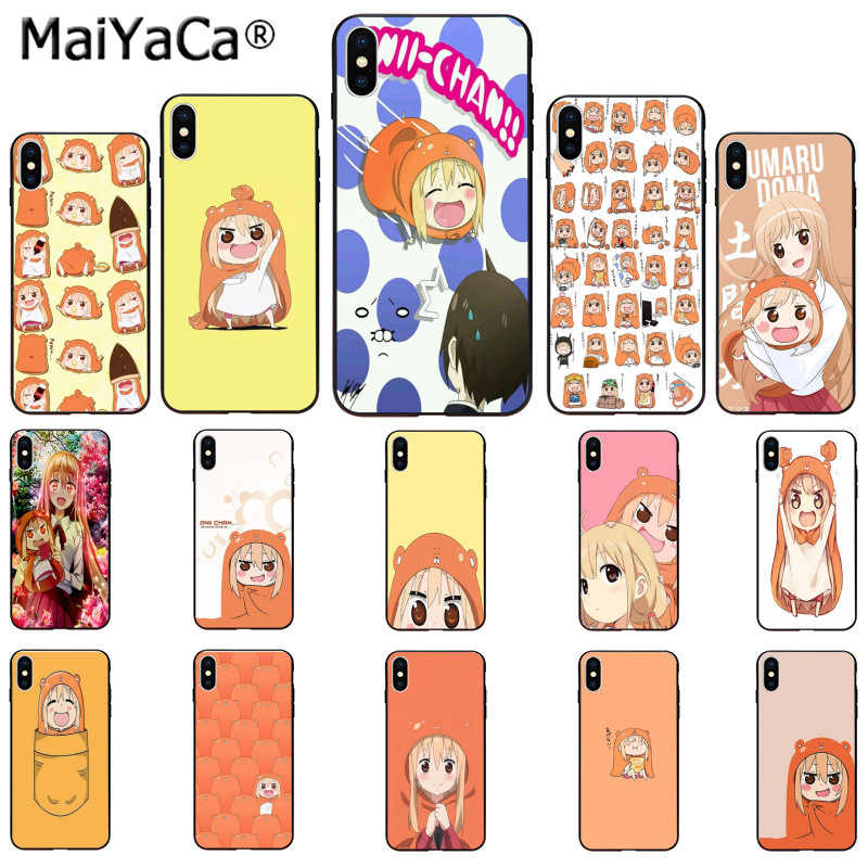 ab75aab6e MaiYaCa cute Umaru chan Anime Smart Cover Black Soft Shell Phone Case for  Apple iPhone 8