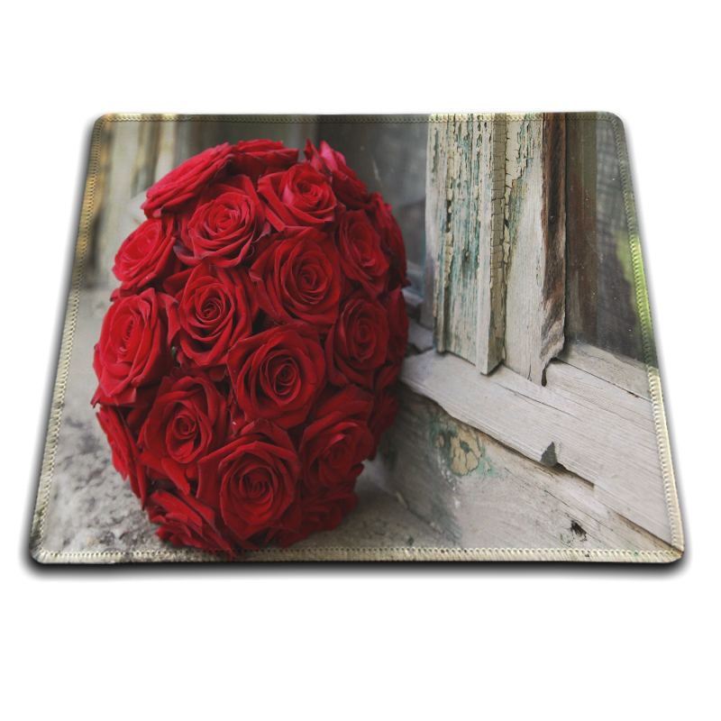 MaiYaCa Wedding Bouquet Custom Design Cool Gaming Mousepad Rubber Mat 18*22cm and 25*29cm Lock Edge and No Lock Edge Mouse Pad
