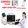 CE Approved Patient Monitor EG NIBP SPO2 Temp RESP ETCO2 capnography equipment medical machine holter machine