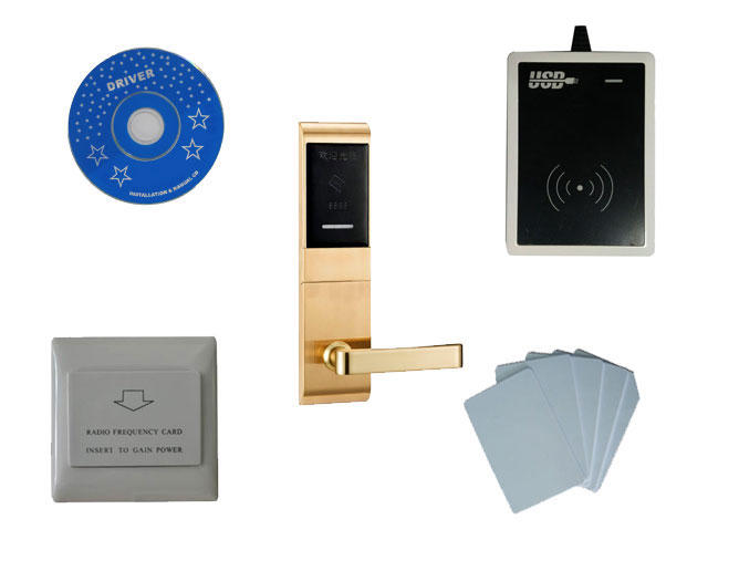T57 hotel lock system, include T57 hotel lock, usb hotel encoder,energy saving switch,T57 card ,sn:CA 8027 kit