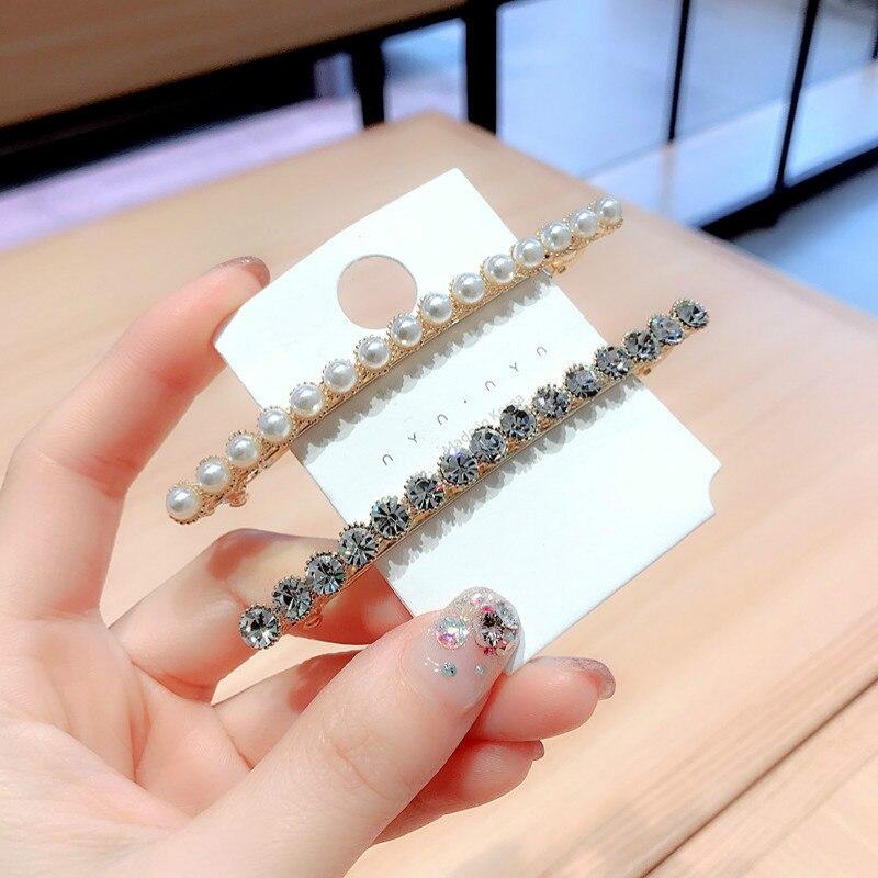 Épingles à cheveux de Style coréen pour femmes et filles, jolies pinces à cheveux simples avec perles en strass, accessoires à la mode, nouvelle collection printemps 2019