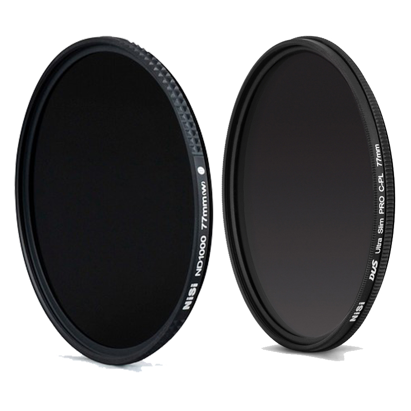 Nisi Ultra Thin 77mm ND1000 ND Neutral Density Filter+NiSi DUS Ultra 77mm Slim Circular Polarizer Polarising 77mm CPL Filter nisi ultra thin 77mm nd2000 nd neutral density filter 11 stops exposure nd 2000 super slim filter 77 mm