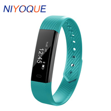 Niyoque ID115 умный Браслет Фитнес часы, счетчик шагов Фитнес Band трекер будильник вибрации браслет для iOS и Android