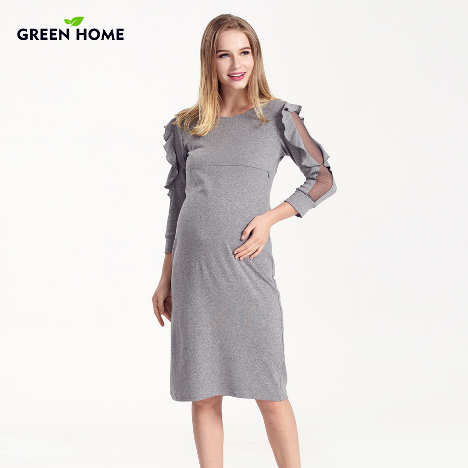 Green home winter pregnancy maternity clothes nursing special lace green home winter pregnancy maternity clothes nursing special lace sleeve clothing breastfeeding dresses for pregnant women in dresses from mother kids ombrellifo Images