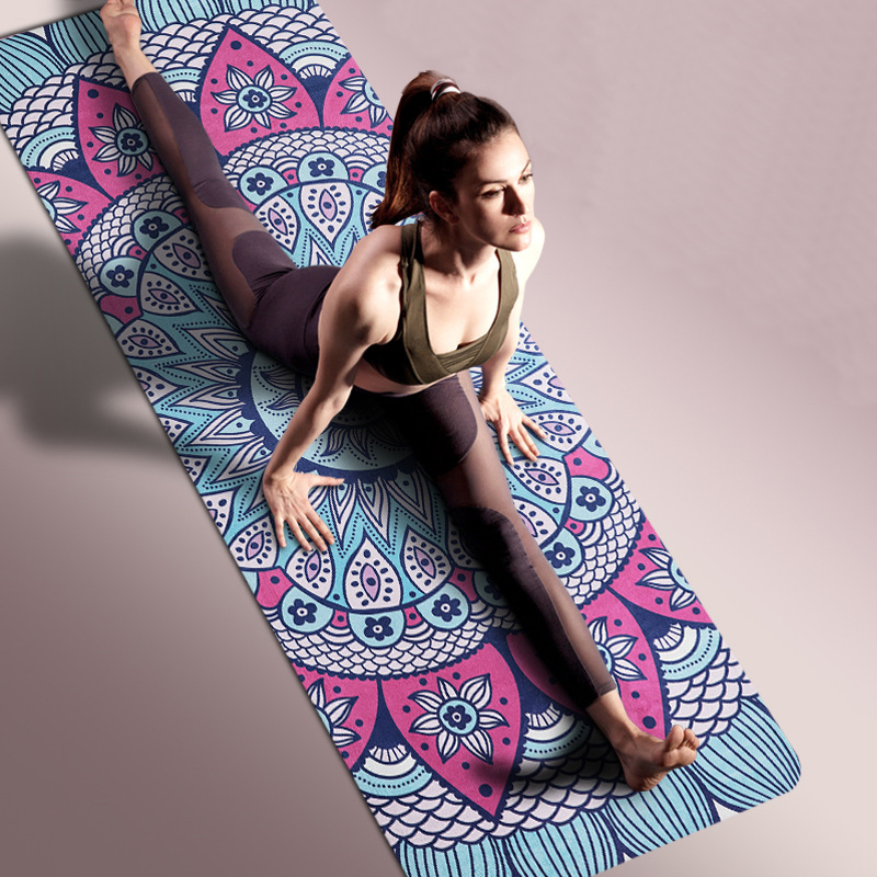 New Printed Yoga Mats Widen Yoga Mat Yoga Blanket Beginners Mat Ultrathin Natural Rubber Suede Yoga Mat new indian mandala tapestry hippie home decorative wall hanging bohemia beach mat yoga mat bedspread table cloth 210x148cm