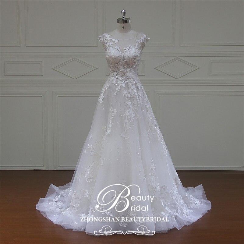 Beautybridal высокого класса линии торжественное платье Дорогой свадебные платье vestido de noiva свадебное платье курто настроить XF16067