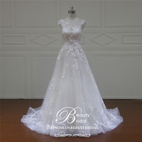 Beautybridal High end A Line wedding dress Expensive bridal vestido de noiva robe de mariage curto Customize XF16067